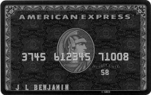 "The famous Centurion ""Black"" card comes with a $2,500 annual fee"