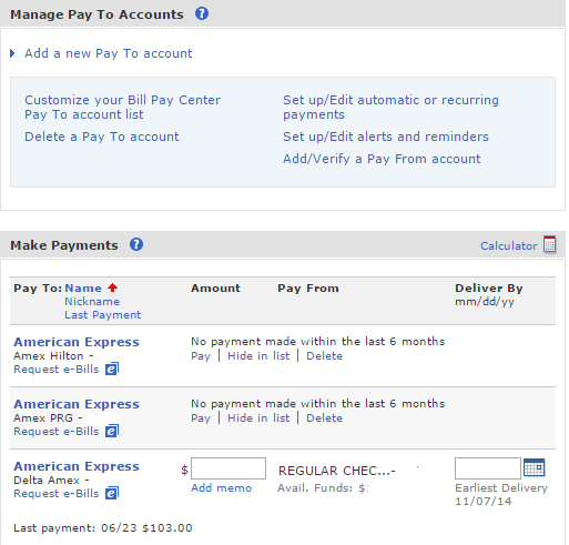BofA bill pay